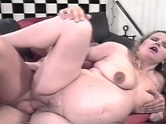 Pregnant milf get hard fucked by a young cock