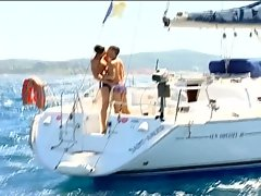 Hardcore gay sex on a private boat