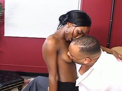 The black diamond hot babe drilled by a hard white dick