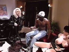Vintage interracial pounding fun in black jack city