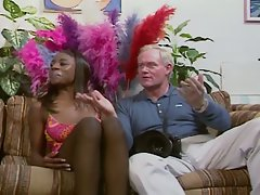 Black glamour girl get fucked by an old white cock !