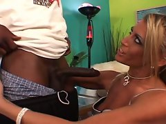Blonde milf loves black cock and gets fucked hard
