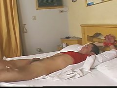 Horny tranny nurse fucking this white boy doctor