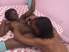 Fervent desires coming true with lesbian ebony amateurs