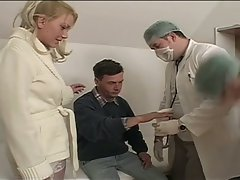 Threesome with a bi at the doctor's office