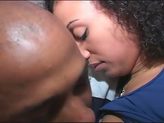 Skinny latina temptress opens wide for massive black dick