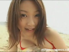 Lovely japanese babe sweet teasing