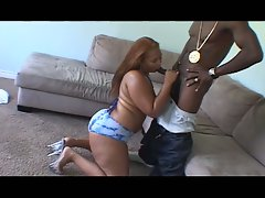 Monster cock action for this hot ebony babe