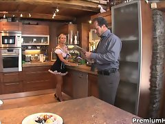Horny mia leone maid drilled hard