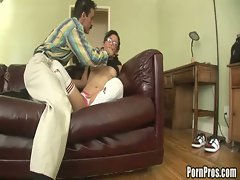Sweet young thing takes big dick by surprise