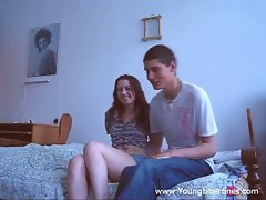 Amateur couple having sex and fun with cock.