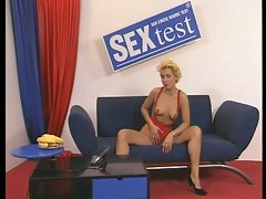 Sex test store assigns two milfs on a cock mission