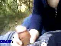 Turkish Girl Sucks in Park