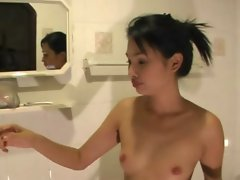 Beautiful Thai girl in shower