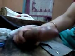 Indian big boobs milf strokes big one