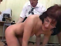 Fucking and creaming on a slut