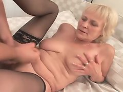 Cock hungry granny in stockings ravaged raw