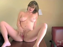 Adorable shaved pussy girl strips in hotel room