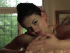 She rubs sweet honey into her soft skin
