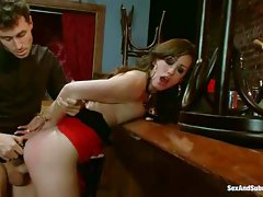 Jennifer White gets her smooth pussy attacked by hard cock