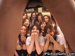 Beautiful Japanese Schoolgirls exploring