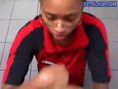 DTFBlack.com Teen Porn Store Clerk Sucks Cock