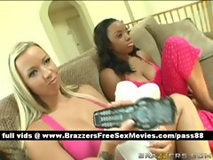 Two hot babes at home bored