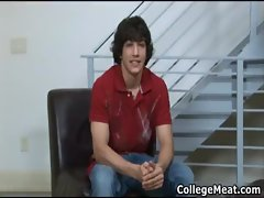 Chandler Cane wanking his cute college gay porno