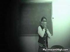 Hot horny schoolgirls get wet  pussy