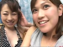2 Asian Girls Kissing Passionately Sucking Tongues On The Couch And On The Mattress