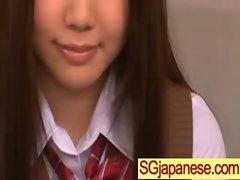 Asians Girls In School Uniforms Get Banged video-06