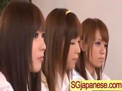 Asians Girls In School Uniforms Get Banged video-29