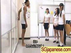 Asians Girls In School Uniforms Get Banged video-25