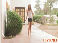 Luxurious girl is posing