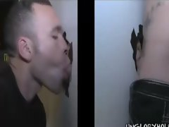 The girl turns out to be a guy who sucks him off through the gloryhole