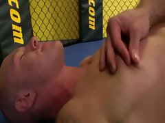 Horny jocks suck cock after wrestling each other