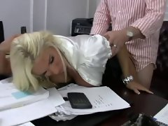 Tempting blonde Bitch Stepmom Shags her Boss