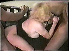Kitty Foxx grinded by 3 Ebony Dicks