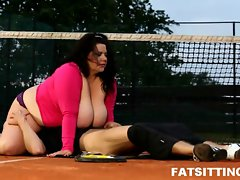 Heavy weight Big beautiful woman face smothering with phallus punishment