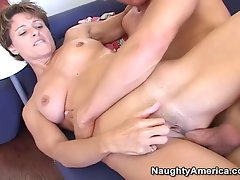 Attractive mommy accepts it in the bum from her sons friend