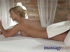 Massage Rooms Two 19 years old models get a xxl huge cock