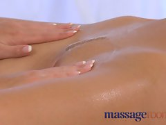 Massage Rooms Lola slides her oily fingers inside two attractive