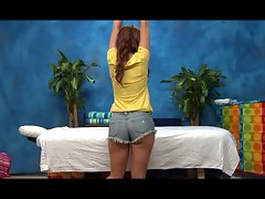 Ava - Red Barely legal teen gets a Massage