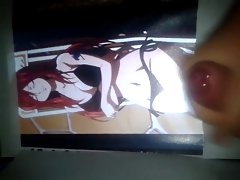 Anime Cum Tribute #04: Erza Scarlet ( Fairy Tail )