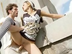 English bitch Holly gets shagged outdoors