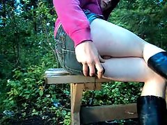 crossdresser bum fun outdoors