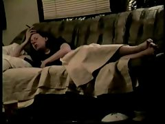 full video of lass playing on the couch