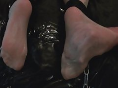 Nude pantyhose tights foot massage