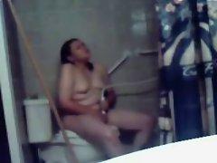 Fatty Fatty Sizzling teen Ex Girlfriend cumming in shower with hidden cam