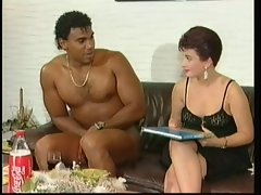 White lady get suprised by a naked ebony prick